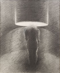 Woman as Lamp—original drawing