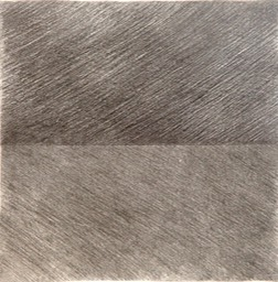 Disected Square 7.375x7.9375 graphite pencil signed 1986