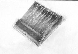 Matchbook Study image 6X9.5 graphite pencil