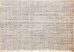 Numbers one through 1869 7.i875x10 pen and ink signed 1975