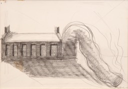 Power Plant Down4.5x6.5 graphite and pencil signed