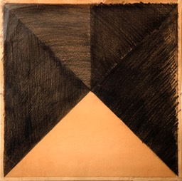 Segmented Square 17.125x17.125 graphit pencil signed