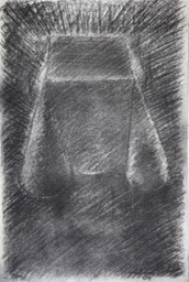 small table 16.5X11 charcoal