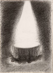 Small What Tony Bennett Saw 9x6.75 charcoal initialed
