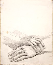 Study of Hands 10x8 graphite
