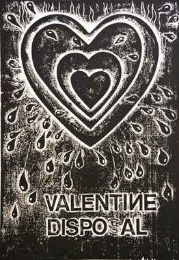 •••Valentine Disposal  collagraph  16X11   2005
