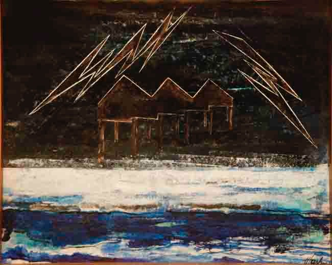 web Lake Effect 16X20 oil on canvas board 2011